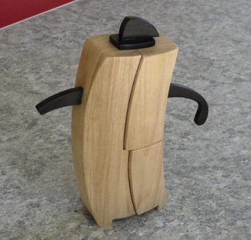Finished Poplar teapot with ebony trim