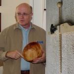 David describing use of homemade depth gauge