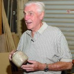 Warren with an alabaster and wood bowl