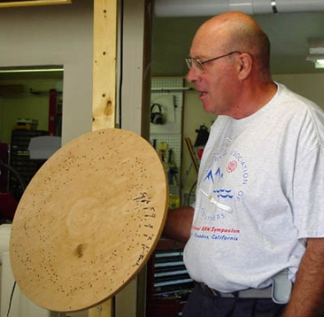 Bill holding the jig which has been used mutliple times