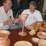 Jim and Tim with avocado goblet and bowls