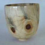 "David Frank - Ponderosa Pine bowl - 9"" H x 8 1/4"" Dia."