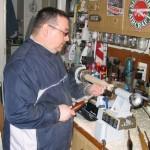 James pefecting his spindle technique