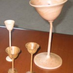 Goblets from this months Challenge: Calif. Holly; Black Locust; Avocoado