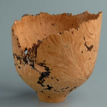 Natural Edge Bowl - Big Leaf Maple Burl 6