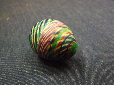 Sample of spiral cut egg