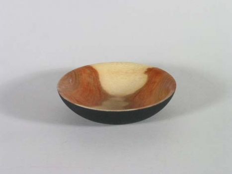 Carob bowl with black epoxy - 8