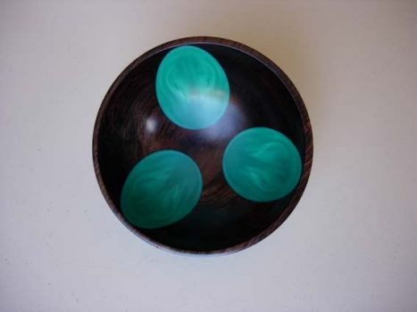 Epoxy and African Blackwood Bowl - 1.2