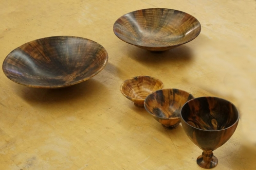 Norfolk Island Pine bowls soaked in linseed oil