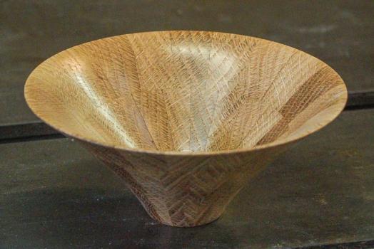 Oak bowl from board