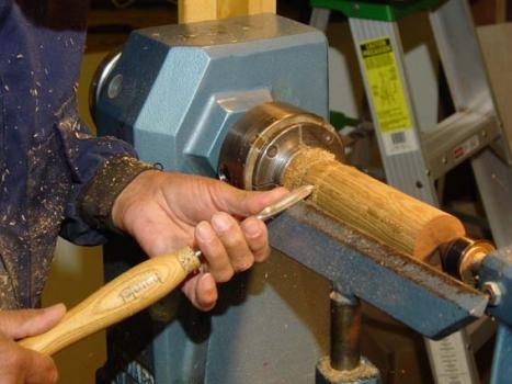 Bocote wood box started; base at head stock