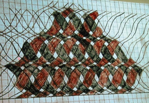 Pattern layout for complex basketweave