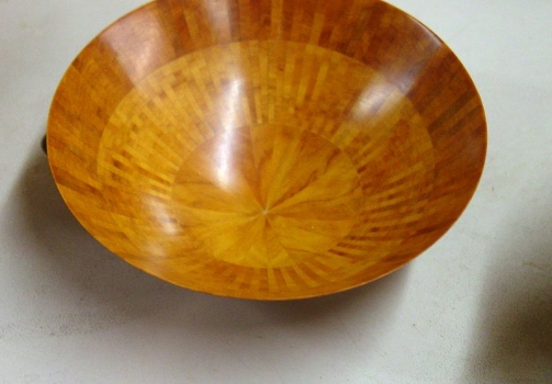 Small thin segmented bowl - about .030 thick