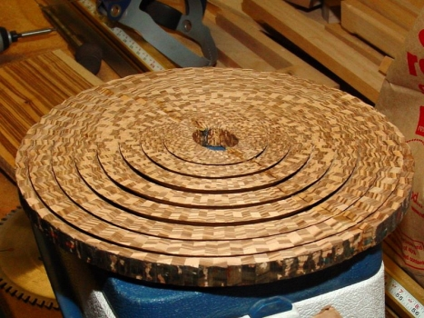 Rings ready for glueup into bowl