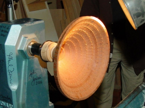"""12"""" bowl mounted for final turning"""