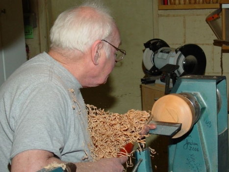 Making shavings in Maple