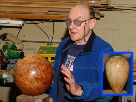 Show and Tell: Al Geller with Maple Burl and Masur Birch hollowforms
