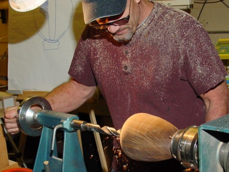 Drilling to the bottom with a 1-inch bit on #2 Morse taper
