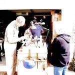 Ron demostrating bowl making.