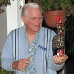 Bob with hand-carved rooster