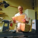 Ron demonstrating grain pattern