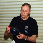 Jim with a large epoxy hollow form