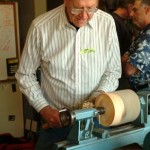 Jim preparing the endgrain blank