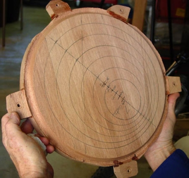 Plan transferred to the wood blank