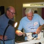 Bruce Purvine and Warren Brown making tops.