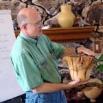 David with end-grain natural edge lemon bowl by Hugh Frank
