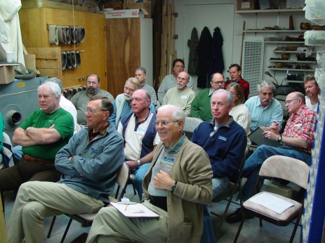 The audience in rapt attention