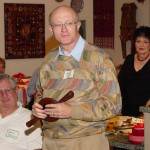 David with his SNT church collection basket made from antique walnut