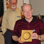 Al Geller with his SNT square bowl from yellow heart