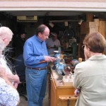 Russ demonstrating spindle turning