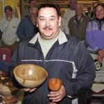 James with his bowl and goblet