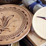 Two plates turned and carved by Bob.