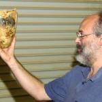 Alan with a natural edge Buckeye vessel