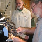 Sam teaching sharpening