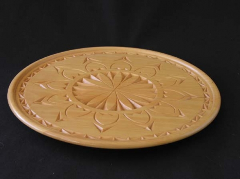 chip-carved plate - 10