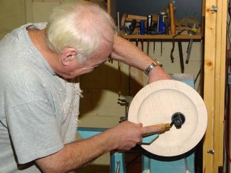 Hand sanding inside