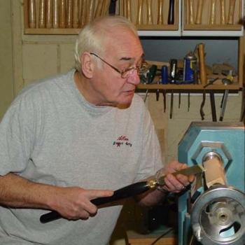 Using the skew to start a pommel