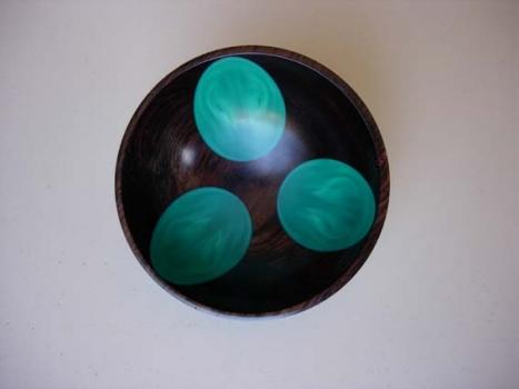 Epoxy and African Blackwood Bowl - 1.2