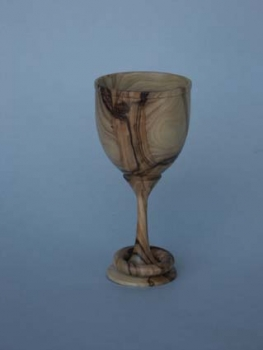 Goblet with captive ring - Olive from Israel - 4.75