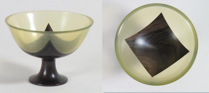 Vase - Clear epoxy and ebony 5