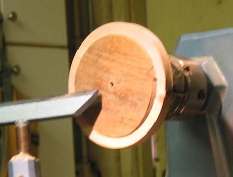 Bowl reversed ready to hollow