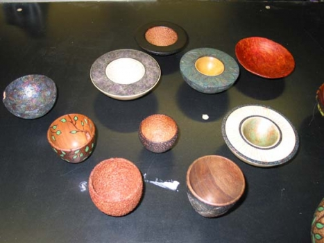 Several examples of her work which she brought to share