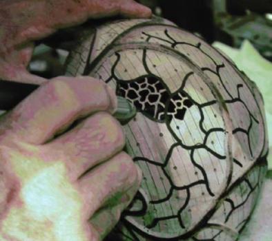 Piercing process - making the holes angular