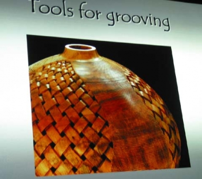 Note grooving pattern made first, basket weave is described latter and is a second step