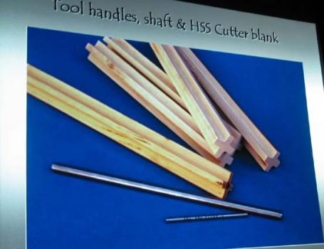 Handles, soft tool steel, and HSS bit