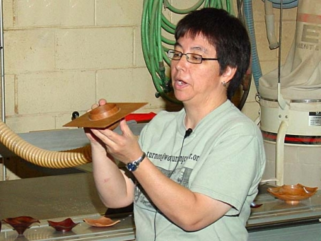 Lynne started out by showing some of the signature forms she brought.